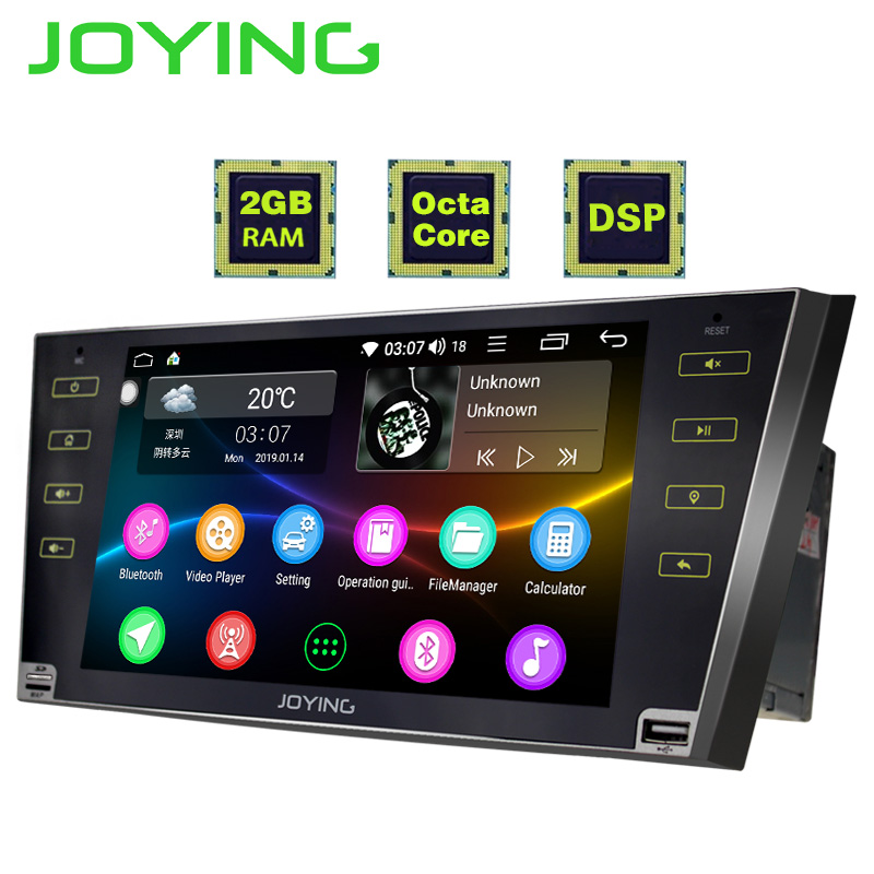 JOYING 2 din autoradio Android 8 1 9 inch HD touch screen Octa Core DSP support