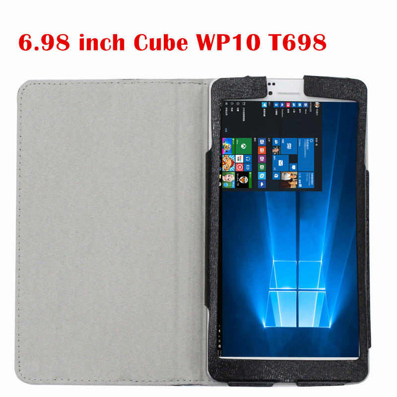 Silk Grain Flip Cover For 6.98 inch Cube WP10 T698 tablet case Stand PU Leather Case protective shell for cube pu protective leather case protective shell skin for cube iwork8 8 inch tablet pc case film pen