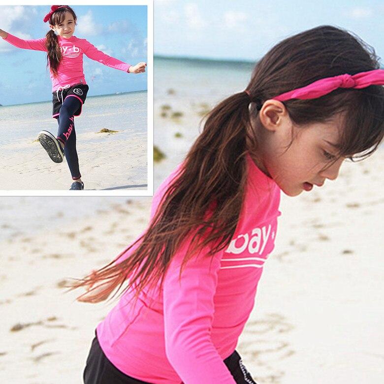 Kids Swimwear For Girls Tankinis Children'S Girl Children Bikini Baby Swim Wear Suit Large Long Sleeve Maillot De Bain Enfant