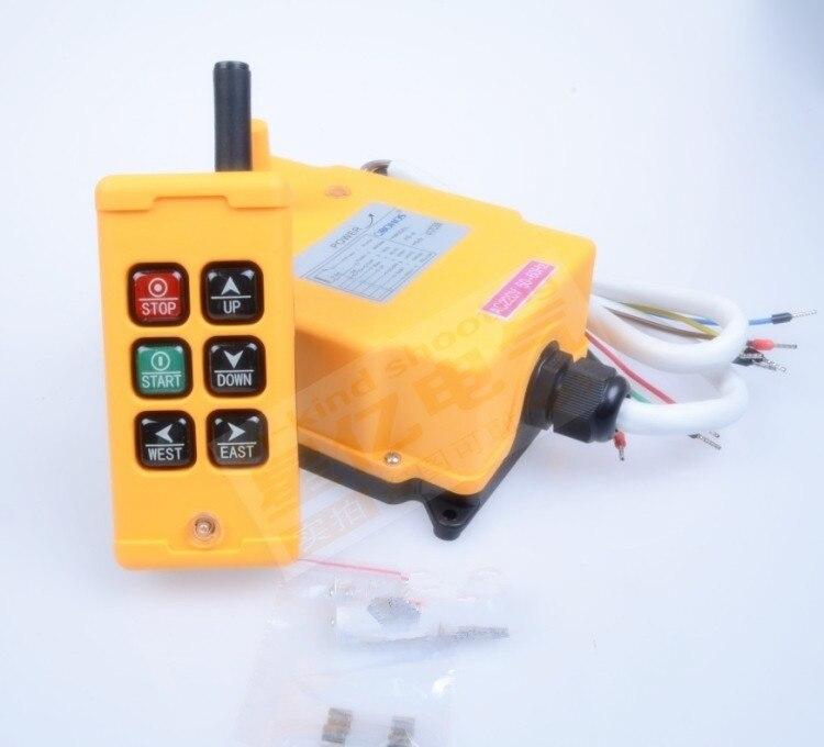 24VDC HS-6 6 Channels Control Hoist Crane Radio Remote Control Industrial Remote Control Hoist Crane