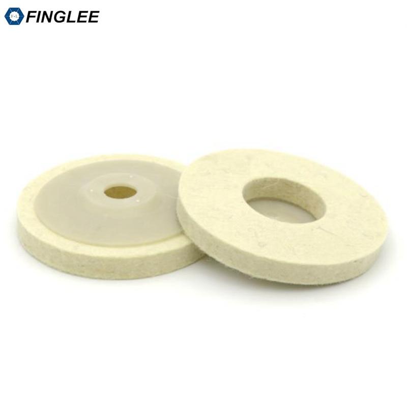 FINGLEE 10 pz 4 pollici lana feltro lucidatura ruota smerigliatrice - Utensili elettrici - Fotografia 5