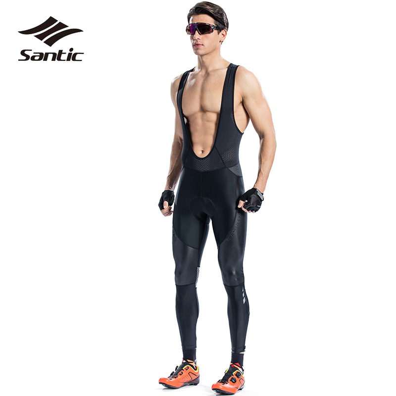 Santic Cycling Bib Long High Quality Tights Men Coolmax Sponge Padded Road MTB Bike Pants Anti-pilling Mountain Bicycle Pants коляска трость для кукол mary poppins фантазия голуб 41 28 56 см 67319