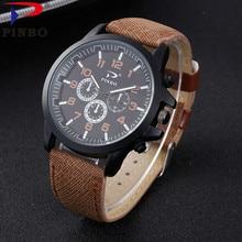Reloj Hombre 2018 Fashion PINBO Brand Men Watches Quartz Watch Clock Leather Military Sport Wristwatches Relogio Masculino P170