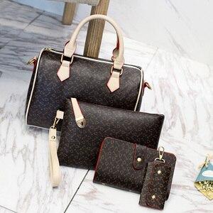 Image 4 - 2020 Nieuwe Vrouwen Lederen Handtassen Mode Schoudertas Vrouwelijke Portemonnee Hoge Kwaliteit 6 Stuk Set Designer Merk Bolsa feminina