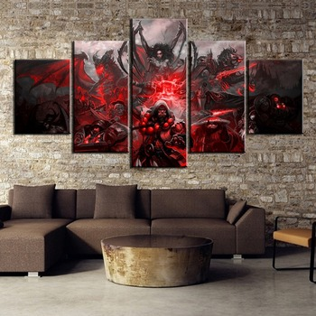 HD Print 5 Piece World of Warcraft Game Poster Painting Canvas Wall Art Picture Home Decoration Living Room Canvas Painting
