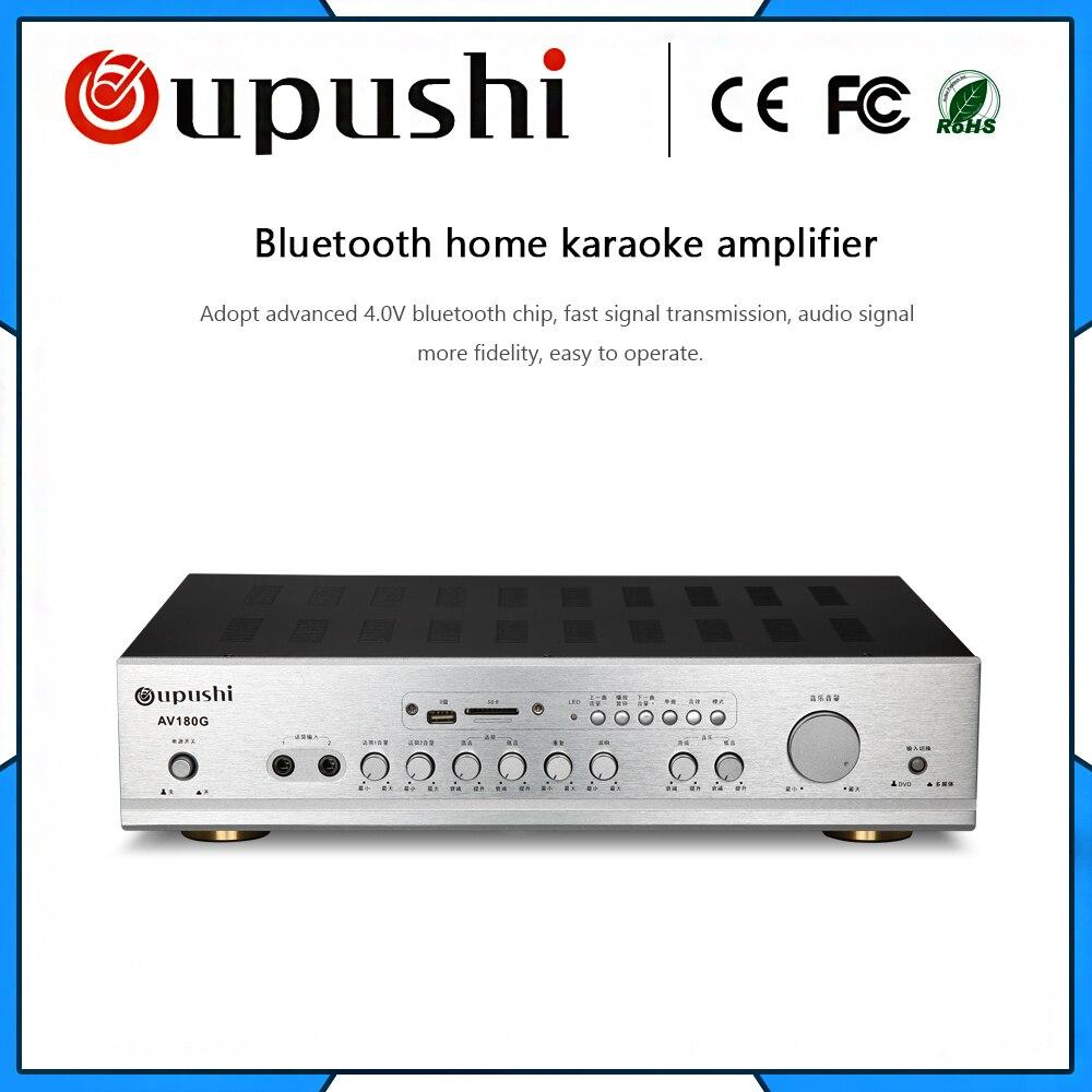 Oupush i AV180G 2 canaux 260 W AV KTV amplificateur de puissance extrême Bluetooth avec usb mp3 sd wma