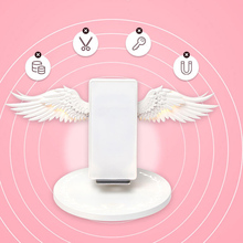 Wireless Charging Dock 10W Angel Wings Stand Fast Charger for Huawei iPhone Samsung VDX99