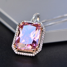 Glamorous Sparkling Crystal Copper Pendant Necklace