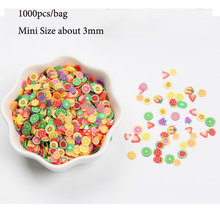 1000pcs 3D Fruit Slices Filler Slime Toys for Kids Girls Nails Art Tips Cell Phone Decoration Slime Accessories(China)