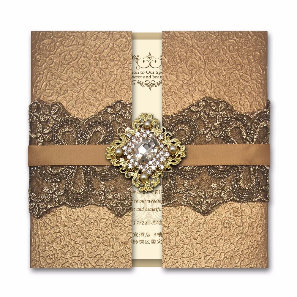FEDEX/DHL Black Lace Wedding Cards Vintage Wedding Invitations ...