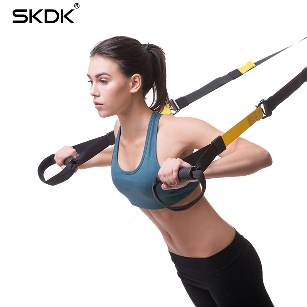 SKDK Suspension Trainer Kit Band Home Gyms Training Straps Fitness Exercise Strap Integrated Crossfit Gym Resistance Bands Set