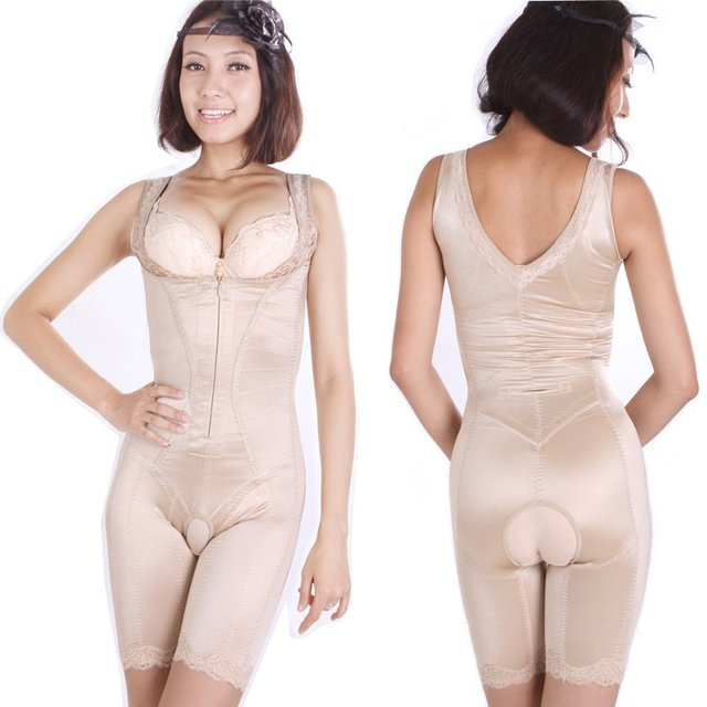 A free shipping Thin waist abdomen drawing butt-lifting glue shaper body shaping bodysuit cow muscle wire fabric l333