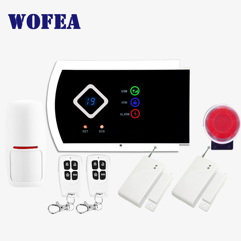 99 wireless & 2 wired zone home security GSM alarm system ISO & android APP support free shipping image