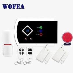 99 wireless e 2 zone cablate sistema di allarme di sicurezza domestica di GSM ISO & android APP supporto libera il trasporto