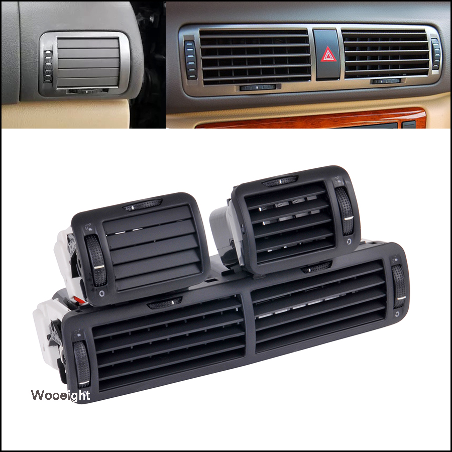 Car Central Left Right Front Dashboard Air Vent Outlet A/C Heater 3B0819728 3B0819703 3B0819704 3B0 819 728 For VW Passat B5