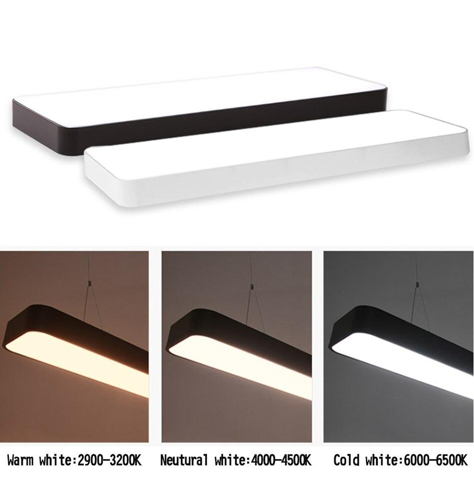 HTB15X8YAuSSBuNjy0Flq6zBpVXa1 LED Modern Ceiling Light Lamp dimmable Surface Mount Panel Rectangle Lighting Fixture Bedroom Living Room office light 110V 220V