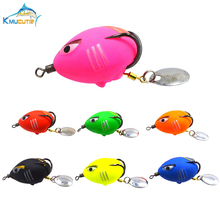 7 colors Anger bird Soft Frog Fishing Lures 5g 35mm Snakehead Top Water Baits With Hook