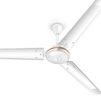 LK1621 48/56 Inch Metal Leaf Cooling Fan White Silent Electric Ceiling Fan 5 Wind Speed  ...