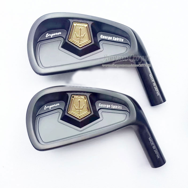 New Golf heads George spirits Forged Carbon Steel Golf irons 4-10 Grand Emperor Golf clubs head No irons shaft Free shipping
