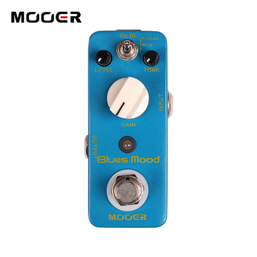 MOOER Blues Mood Overdrive Effects 2 Working Modes:Bright/Fat True bypass NEW Effect Guitar Pedal new effect pedal mooer green mile overdrive pedal 2 overdrive modes excellent sound