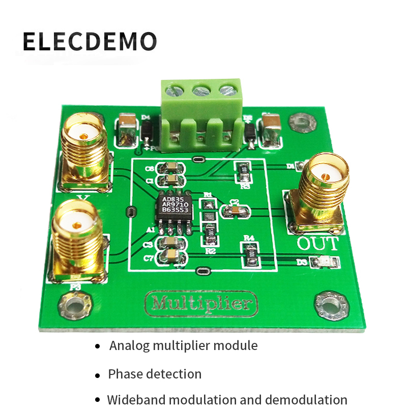 AD835 Analog Multiplier Module Signal Conditioning Phase Detection Measurement Four Quadrant Multiplier Mixing-in Demo Board Accessories from Computer & Office