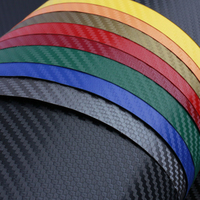 127cmx30cm Car Styling 3M Carbon Fiber Vinyl Film Carbon Auto Wrap Sheet Roll Film Paper Car