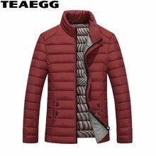 TEAEGG High Quality Cotton Men's Winter jacket Veste Homme Hiver Stand Collar Winter Men's Parks Male Clothing Jackets AL496