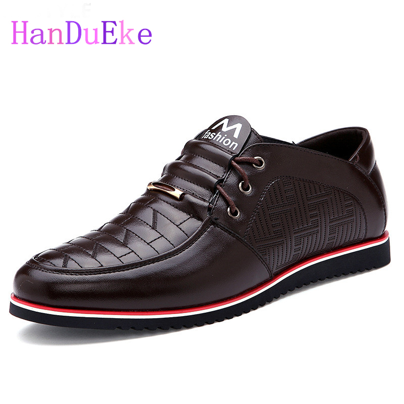 Hot Sales 2017 Winter Mens Casual Shoes Autumn PU Leather Lace-up Black Blue Brown Men Shoes Breathable Comfort Mens Flats 2017 simple common projects breathable lace up handmade leather shoes casual leather shoes party shoes men winter shoes