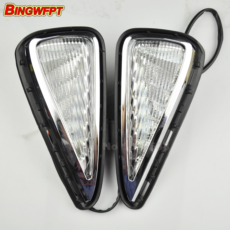 Led daytime running lamp for Toyota Camry 2015 2016 turn signal drl car styling light car styling 2015 2017 camry daytime