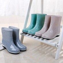 Женские весенние прозрачные пластиковые без застежек водонепроницаемые Ботинки на Резиновой Подошве резиновые сапоги обувь для отдыха и путешествий обувь непромокаемые сапоги