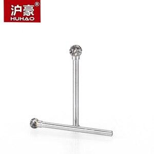 Image 2 - HUHAO 1pc 3mm Shank wolframu Carbid frez ze stali metalu szlifowanie rzeźba pilnikarka cylindryczny frez do polerowania metalu