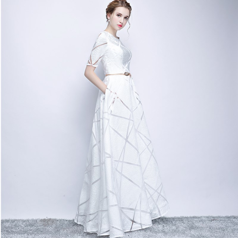 ruthshen Vintage A Line Prom Dresses 2018 New Long Floor Length Prom Gowns  Cheap Short Sleeves Vestidos De Formatura In Stock-in Prom Dresses from  Weddings ... 269207530057