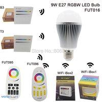 AC85 265V 2 4G Mi Light E27 9W RGBW Or RGBWW LED Smart Bulb Aluminum Housing