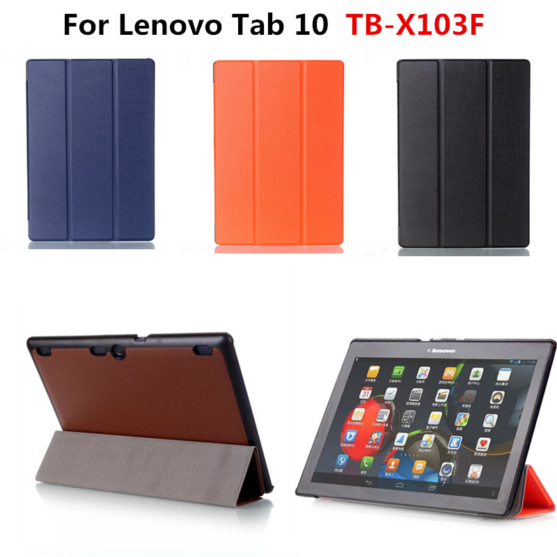 New Arrival pu Leather  Slim cover Stand case For Lenovo Tab 10 TB-X103F X103F 10.1'' Tablet PC funda With Magnetic Cases classic lichee folio book pu leather case with magnetic folio stand cover for lenovo tab 10 tb x103f x103f 10 1 tablet pc