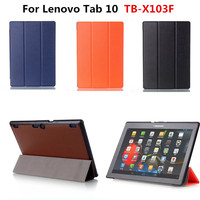 New Arrival Pu Leather Slim Cover Stand Case For Lenovo Tab 10 TB X103F X103F 10