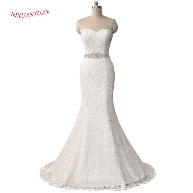 NIXUANYUAN 2017 Neue Elegante Weiß Elfenbein Spitze Hochzeitskleid ...