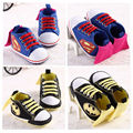 2016 New Fashion Cute Cartoon Superman Batman Spring Autumn Infant Toddler Crib Babe Boy Girl First Walkers Newborn Kids Shoes