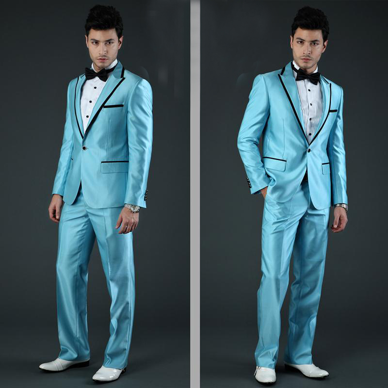 black Double Breasted Suits Mens Wedding Suits Purple Tuxedos Jacket Pants sets 2 pcs Men Terno