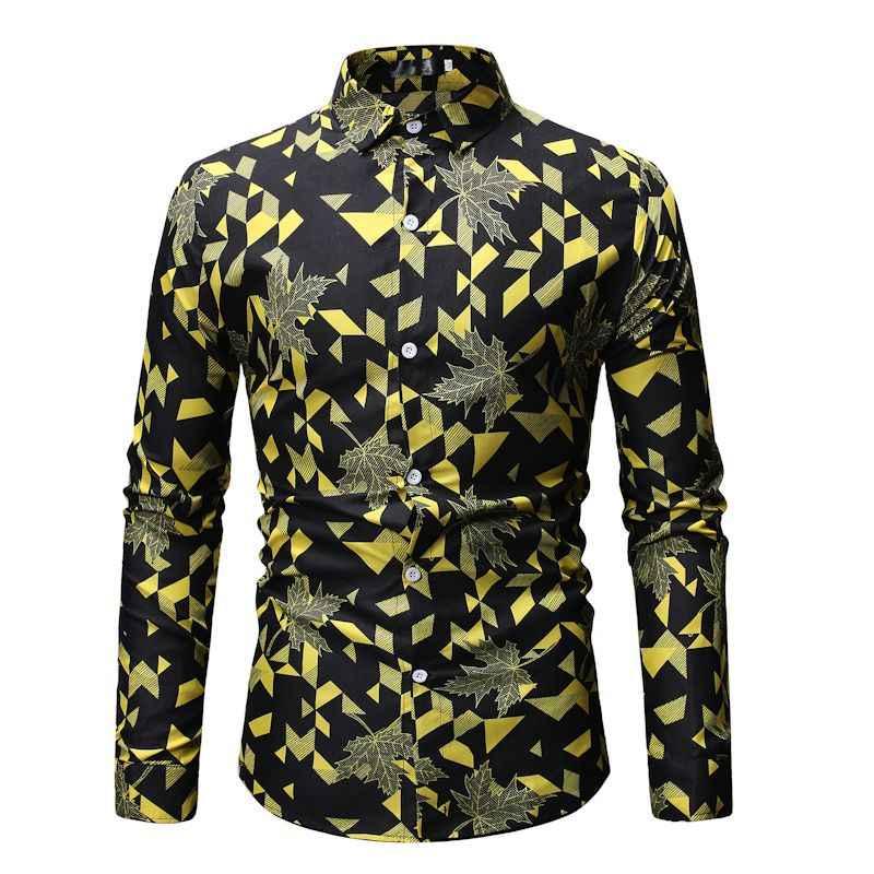 Мужская красная рубашка с 3D принтом Повседневная Гавайская Пляжная Вечеринка листья цветочные платья рубашки с длинным рукавом хип-хоп Уличная Camisas 3X