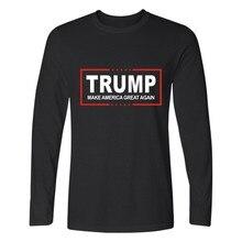 Men Women T shirt Donald Trump 2017 Shirt Mens Long Sleeve Cotton TShirt Donald Trump T Shirts Plus Size Casual Clothes XXXL
