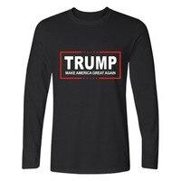 Men Women T Shirt Donald Trump 2017 Shirt Mens Long Sleeve Cotton TShirt Donald Trump T