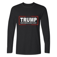 Men Women T Shirt Donald Trump 2017 Shirt Mens Long Sleeve Cotton TShirt Donald Trump T