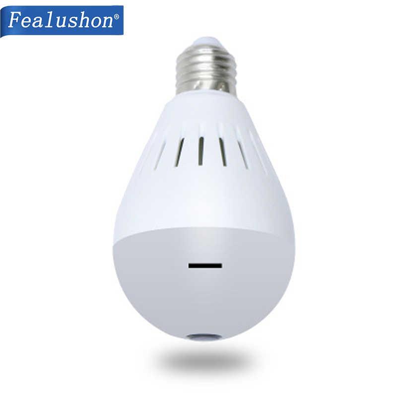 "Fealushon Bulb Lamp Wireless IP Camera Wifi 960P Panoramic 360"" FishEye Home Security  Bulb Home Security wifi wireless Camera"