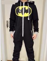 Halloween Party Cosplay Costumes Unisex Pyjamas Adult Pajamas Onesie Men Women Batman Superman One Piece Sleepsuit