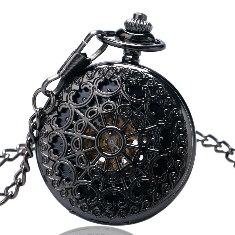 de595b3d8 2015 La Venta caliente de la moda retro aleación mecánica esqueleto reloj  de bolsillo para hombres mujeres señoras de la muchacha del collar del reloj  del ...
