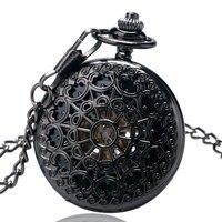 2015 Venta Caliente de Moda Retro Aleación Mecánica Esqueleto Reloj de Bolsillo Para Hombres Mujeres Señoras de La Muchacha Collar Reloj Reloj P825C