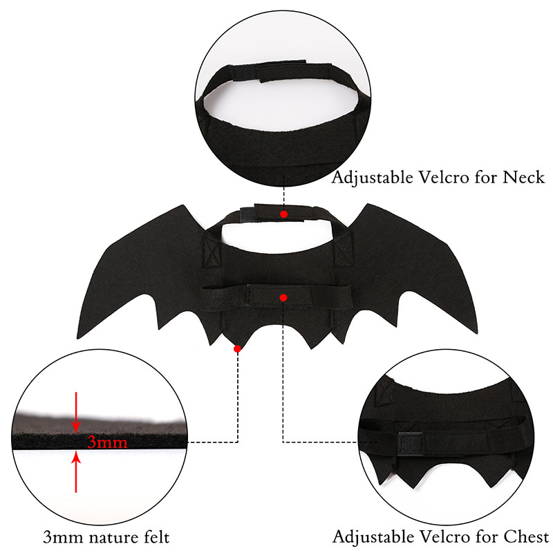 Hoomall 1pc Funny Cats Cosplay Costume Halloween Pet Bat Wings Cat Bat Costume Fit Party Dogs Cats Playing Pet Accessories #4