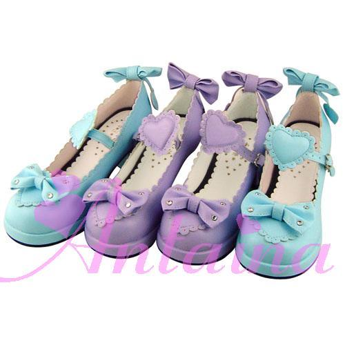 Princess sweet lolita shose Lolilloliyoyo antaina custom lolita butterfly of love sweet princess shoes a707 chromophous PU