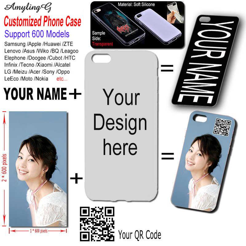 DIY caso personalizado para Samsung Galaxy A6 A7 A8 Plus 2018 A6s A8s A8 A9 2019 Pro estrella A750 A3 2016 A5 2017 Imprimir Nombre foto funda