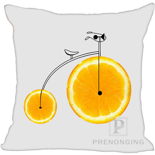 Custom Pillowcase Cover Fruits Bike Square Zipper Pillow Cover Print Your Pictures 20x20cm,35x35cm 171203#10-10 one Side